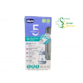 Biberón Perfect5 0m+ Azul 150ml Chicco